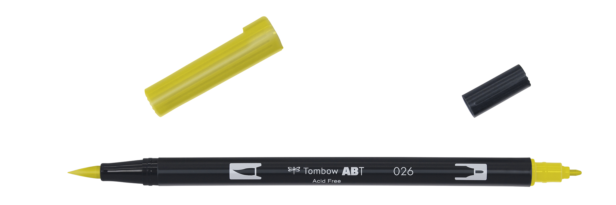 Viltpliiats Tombow ABT-026 DUAL BRUSH yellow gold